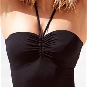 Victoria's Secret One Piece Black Halter Swimsuit